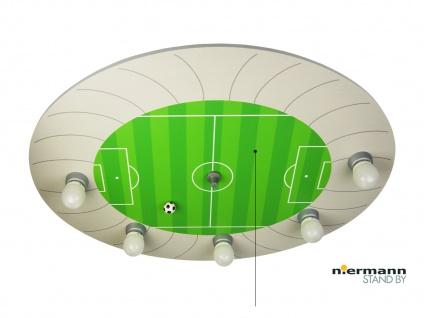 Kinder Deckenleuchte Fußball Stadion mit Zugschalter für LED-Schlummerlicht