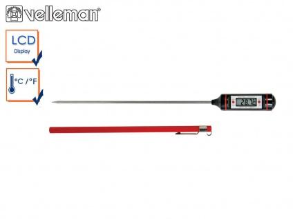 Digitales Einstichthermometer für Speisen, Lebensmittel Thermometer Braten Küche