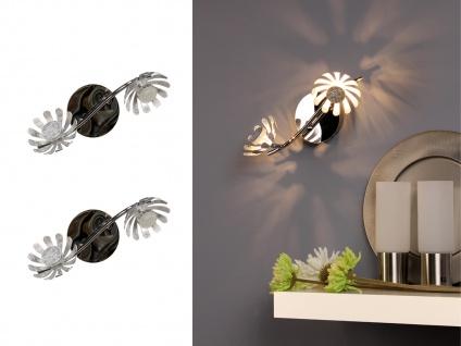 Zweiflammige LED Deckenlampen mit schwenkbaren Blumen Design Spots Blattsilber