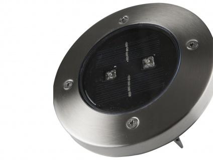 6er-Set LED Solarstrahler, Edelstahl Dämmerungssensor Erdspieß IP44 - Vorschau 3