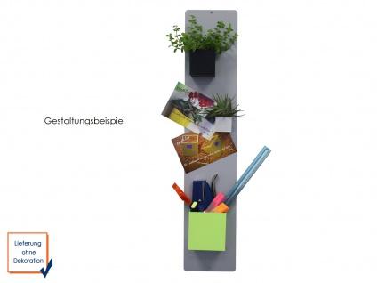 Wandaufbewahrung Dekoration Memoboard Magnettafel Metall 14 x 54cm, KalaMitica - Vorschau 3