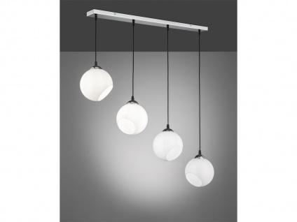 Designer LED Pendelleuchte Lampenschirme Kugelform Ø20m aus Glas 4 flammig weiß