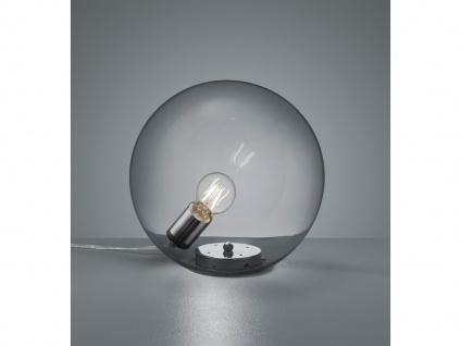 Ausgefallene Designerlampen Glaskugel Tischleuchte Rauchglas Nachttischlampe