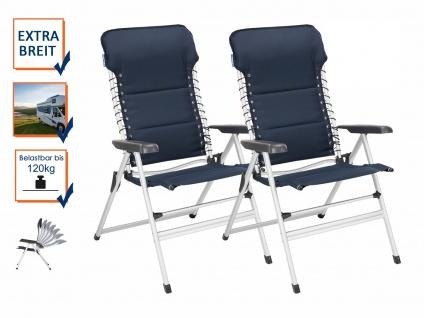 2x XXL stabile Alu Campingstühle gepolstert leicht klappbar Camping Relaxsessel