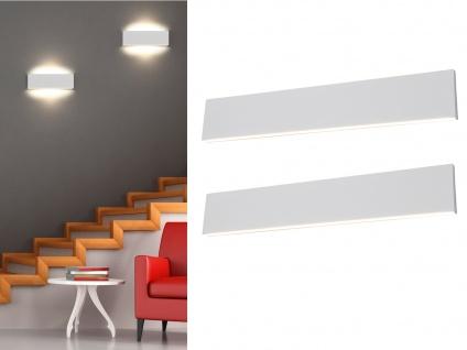 Dimmbare flache LED Wandleuchten Up and Down Light Weiß 47cm 2er Set Flurlampen