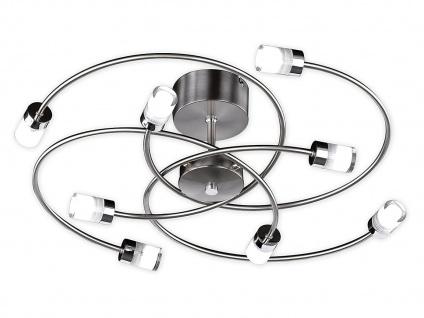 Dimmbare, 8-flg. LED-Deckenleuchte, Chrom / Nickel, Honsel-Leuchten