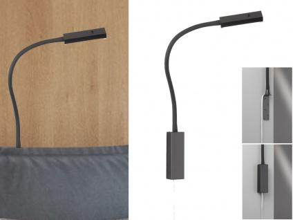 LED Leselampe Schwarz dimmbar Bett Lampe Leuchte fürs Kopfteil Couch Wandmontage