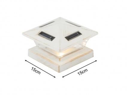 LED Garten Solarlampe für Zaunpfost, Terrassenbeleuchtung, Balkongeländer, weiß - Vorschau 1