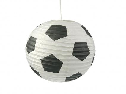 Lampion Kugel Fussball Motiv Ballon Lampe Papier Lampenschirm für Kinderzimmer - Vorschau 2