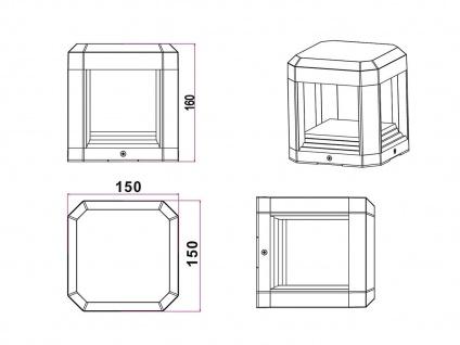 2er SET LED Wegeleuchten, Terrassenlampen aus ALU in anthrazit IP65, Höhe 15cm - Vorschau 5