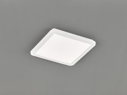 Kleine LED Deckenleuchte CAMILLUS flache Badezimmerlampe Eckig 30x30cm Weiß IP44