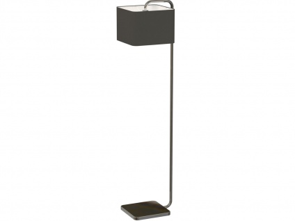 Eckige designer Stehleuchte CUBE mit schwarzem Stoffschirm, Stehlampe Wohnzimmer - Vorschau 1