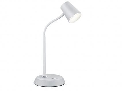 Flexible LED Schreibtischlampe Weiß matt Höhe 38cm - Leselampen Arbeitsleuchten