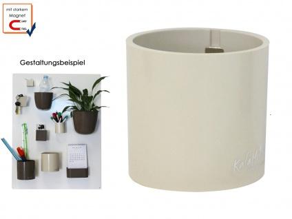 Kunststofftopf mit Magnet Ø 10 cm, Braun, Wandaufbewahrung Wanddeko, KalaMitica - Vorschau 1