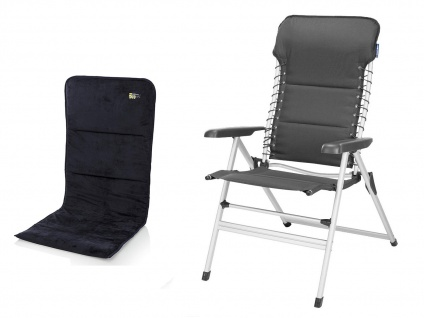 ALU Campingstuhl Hochlehner 7-fach verstellbar Klappsessel mit Sitzauflage