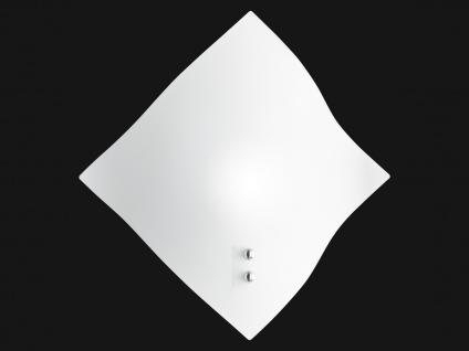 Eckige Wandleuchte Glasschirm weiß satiniert Wandlampe für den Flur Wohnzimmer