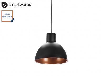 Hängelampe Industrielampe Ø30cm schwarz / bronze mit LED, Pendelleuchte Retro