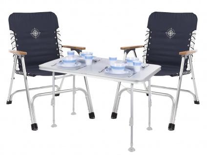SET für 2 Personen stabiler klappbarer Campingtisch höhenverstellbar Regiestühle