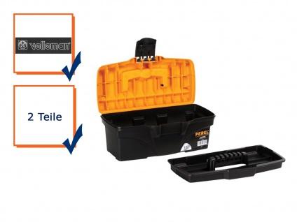 Werkzeugkiste Werkzeugkasten Werkzeugkoffer Kunststoff Ablage 31, 6x15, 2x13cm