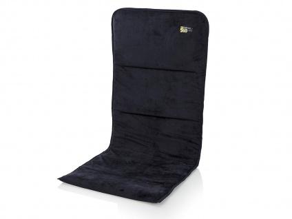 Gepolsterte Velours Sitzauflage für Hochlehner in marineblau für Hochlehner - Vorschau 2