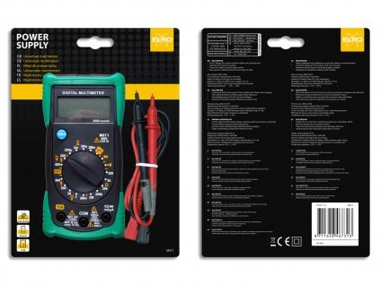 Multimeter Spannungsprüfer Voltmeter Meßgerät AC/DC-Spannung Widerstand - Vorschau 4