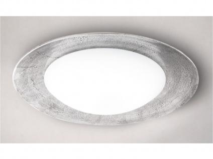 LED Deckenlampe rund 60cm Glas antik mit Fernbedienung für Dimmen & Farbwechsel