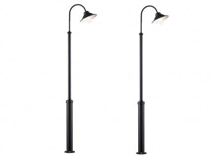 2x Konstsmide LED Gartenlaterne Standleuchte VEGA schwarz, Straßenlaterne Alu