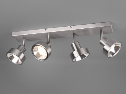 RETRO LED Deckenstrahler 4-flammig Silber Beleuchtung Flur, Diele & Treppenhaus