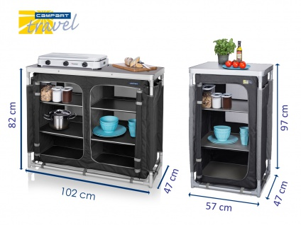2x Campingschrank faltbar OUTDOOR CAMPING Küchenschrank Zeltschrank Küchenblock