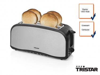 Design Toaster Edelstahl 4 Slice Toaster silber/schwarz 4 Scheiben Toaster