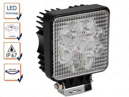 27 Watt LED Wandstrahler schwarz - IP67 Außenfluter für Fassadenbeleuchtung Haus