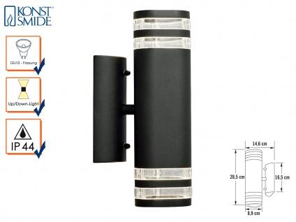 Up-Down Wandleuchte MODENA Aluminium schwarz, GU10, Höhe 28, 5 cm, IP44