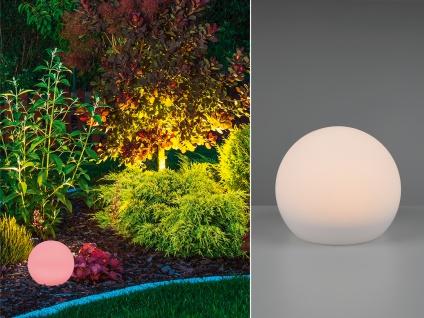 Kugelleuchte für den Garten Solar Ø 20 cm Dekokugeln Beetleuchten Weglampen weiß