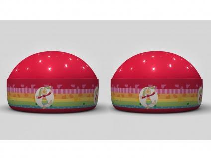 2er Set LED Nachtlicht Rainbow Rabbit Sternprojektor LED-Farbwechsler 3 Farben - Vorschau 3