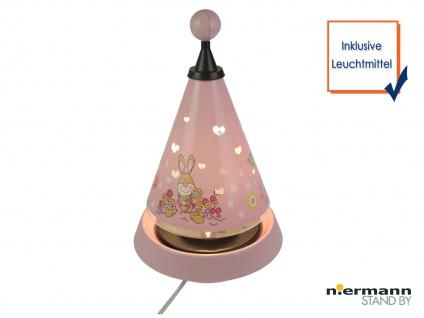 Nachtlicht Carrousel projiziert viele süsse Herzen ins Kinderzimmer Tischleuchte
