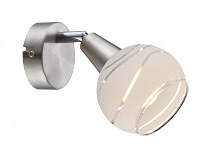 Wandleuchte schwenkbar Lampenschirm Glas, Wandlampe Strahler Wohnzimmer Flur