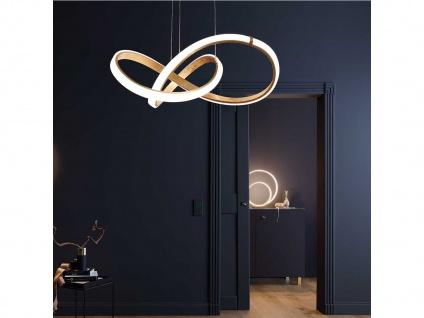 Dimmbare LED Pendelleuchte Goldfarbig 44 Watt Hängeleuchte Esstisch Pendel