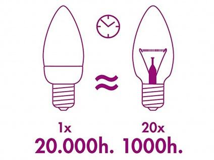 FILAMENT-LED Kerze matt E14, 2 Watt, 190 Lumen, 2700 Kelvin, warmweiß - Vorschau 4