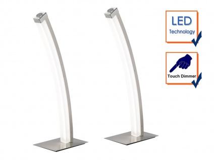 2er Set LED Tischleuchte FERROL, Touchdimmer, H.44 cm, Tischlampe LED Leuchte