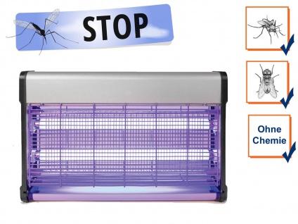 Elektrische Stechmückenfalle Insektenvernichter UV Licht 2x 15W, Bereich 100m²
