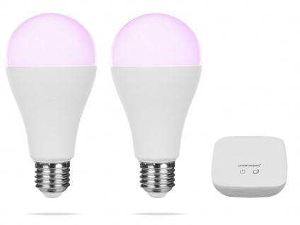 2er Set intelligente E27 Funk Leuchtmittel Smarthome PRO - dimmbar & RGB Farben - Vorschau 2