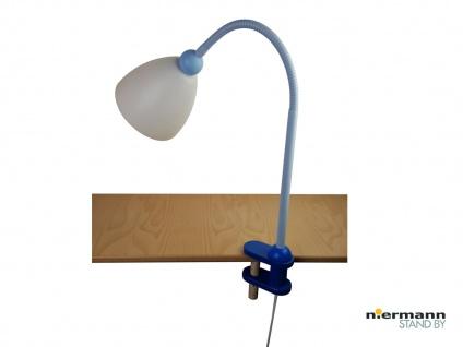 Schreibtischklemmleuchte Tischlampe SVEN für Jungen Regal Leuchte sehr biegsam