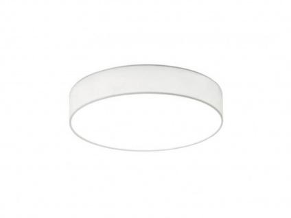 Trio LED Deckenleuchte LUGANO 30cm Stoffschirm weiß, Wohnzimmerlampe Flurlampe