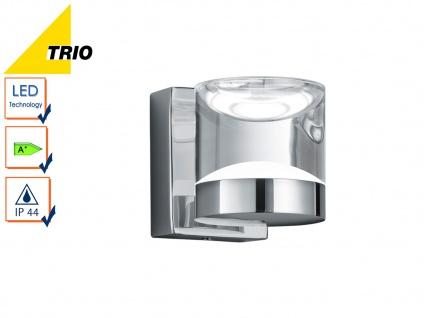 LED Badleuchte Wanlampe Serie 2827, Chrom, Acryl klar, IP44, Höhe 10 cm, Trio
