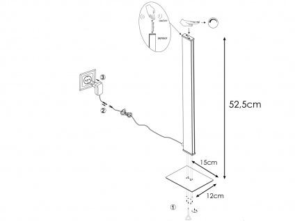 Dimmbare LED Nachttischleuchte in Holz-Optik mit Gestensteuerung H. 52, 5cm -Flur - Vorschau 4
