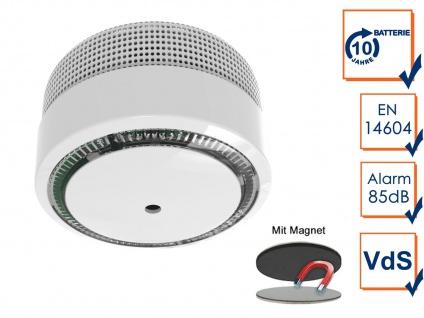 Brandmelder mit 10 Jahres Batterie & VdS geprüft mit Magnetmontage - Brandschutz