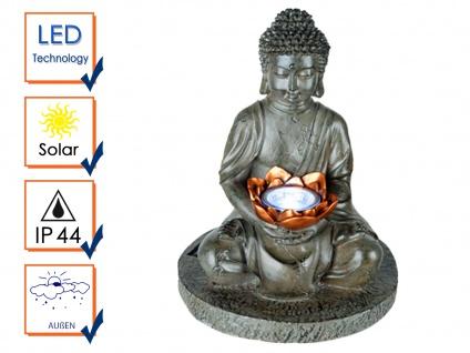 Außen DEKO Solarfigur - sitzender Buddha für die Gartenoase & den Meditationsort - Vorschau 3