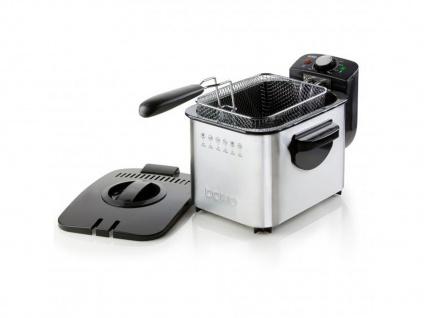 Edelstahl Fritteuse mit Kältezone Fassungsvermögen 3 l Deckel mit Filter - Vorschau 3