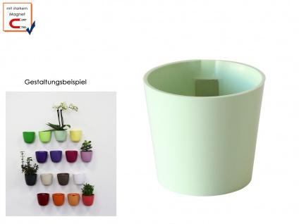 Wandaufbewahrung Deko, Kunststofftopf mit Magnet Kegel Ø 10cm Mint, KalaMitica