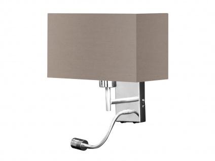 Stehleuchte Leseleuchte Wohnraum Honsel Design Stehlampe Flex Stoffschirm grau